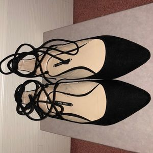 Zara basic black flats